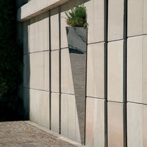Stainless steel planter / COR-TEN® steel / vertical / triangular