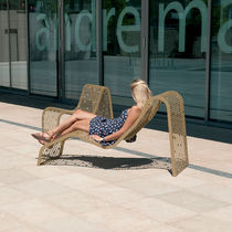 Contemporary sun lounger / steel / for public spaces