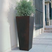 COR-TEN® steel planter / conical / contemporary / for public spaces