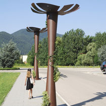 Urban lamppost / contemporary / COR-TEN® steel / LED