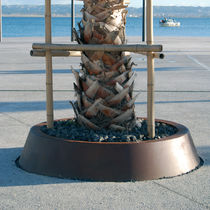 Tree edging / COR-TEN® steel / circular