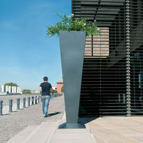 Stainless steel planter / conical / contemporary / for public spaces