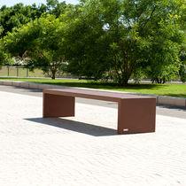 Public bench / contemporary / COR-TEN® steel