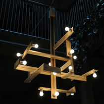 Pendant lamp / original design / wood