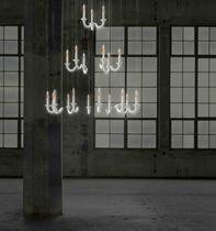 Contemporary chandelier / porcelain / LED / handmade