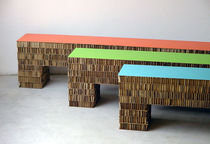 Contemporary bench / cardboard