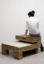 Contemporary stool / cardboard