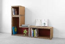 Modular bookcase / contemporary / cardboard