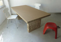 Contemporary table / cardboard / rectangular