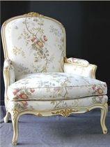 Velvet armchair / bergere / Louis XV style