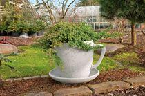 High-performance concrete flower box / round / original design / residential