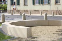 Garden bench / public / contemporary / concrete