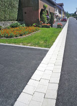 Street drainage channel / concrete / paved