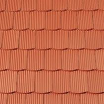 Interlocking roof tile / clay / red