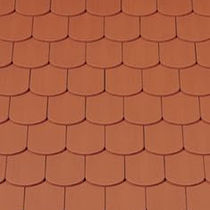 Bullnose roof tile / clay / red