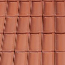 French roof tile / clay / red