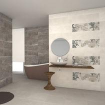 Bathroom tile / wall / ceramic / 25x75 cm