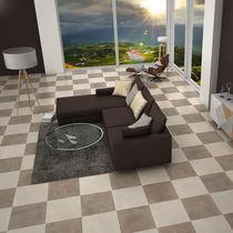 Living room tile / floor / ceramic / plain