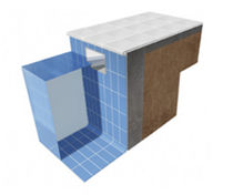 Poolside tile / floor / porcelain stoneware / matte