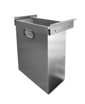 Hygienic trash can / built-in / stainless steel / commercial