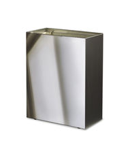 Hygienic trash can / wall-mounted / stainless steel / commercial