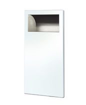 Hygienic trash can / built-in / metal / commercial