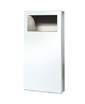 Hygienic trash can / wall-mounted / metal / commercial