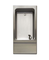 Built-in drinking fountain / indoor / stainless steel