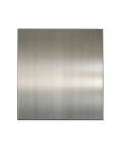 Cover panel / stainless steel / for exterior fittings / satin