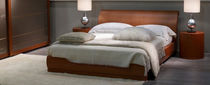 Double bed / contemporary / wooden