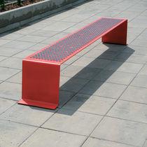 Public bench / contemporary / galvanized steel