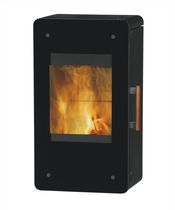 Wood heating stove / contemporary / steel / wall-mounted