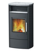 Wood heating stove / contemporary / soapstone / sandstone