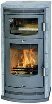 Wood heating stove / contemporary / soapstone