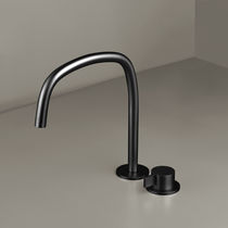 Washbasin mixer tap / shower / deck-mounted / chromed metal