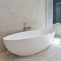 Freestanding bathtub / oval / Solid Surface / double