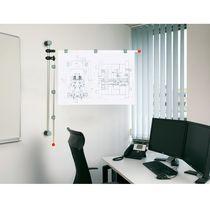 Wall-mounted display panel / indoor / magnetic / metal