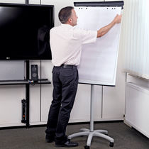 Magnetic board / self-supporting / steel / on casters