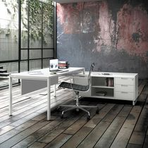 Contemporary work table / solid wood / MDF / melamine