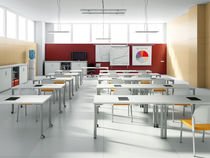 Contemporary classroom table / laminate / rectangular / for public buildings