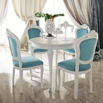 Traditional chair / upholstered / with armrests / fabric