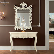 Classic sideboard table / wooden / with mirror