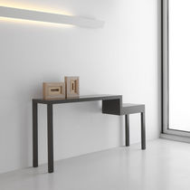 Contemporary sideboard table / lacquered wood / rectangular / contract