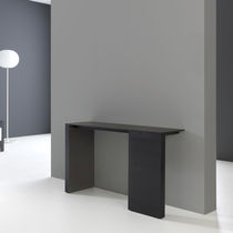 Contemporary sideboard table / oak / ebony / lacquered MDF
