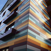 Composite cladding / lacquered / colored / smooth