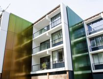 Composite cladding / lacquered / colored / reflective