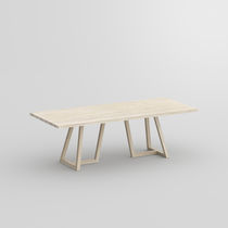 Contemporary table / solid wood / rectangular