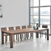 Contemporary table / solid wood / rectangular / extending