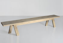 Contemporary bench / solid wood