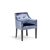 Traditional chair / with armrests / upholstered / fabric